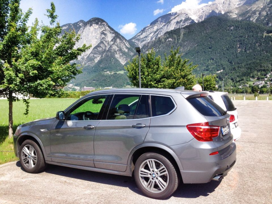 Our car parked in Innsbruck, Austria.