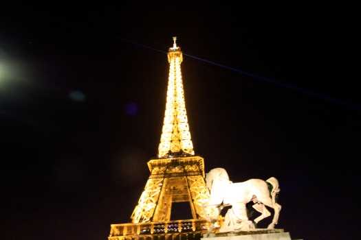 I love how the Eiffel Tower can look so different at night and from different angles.
