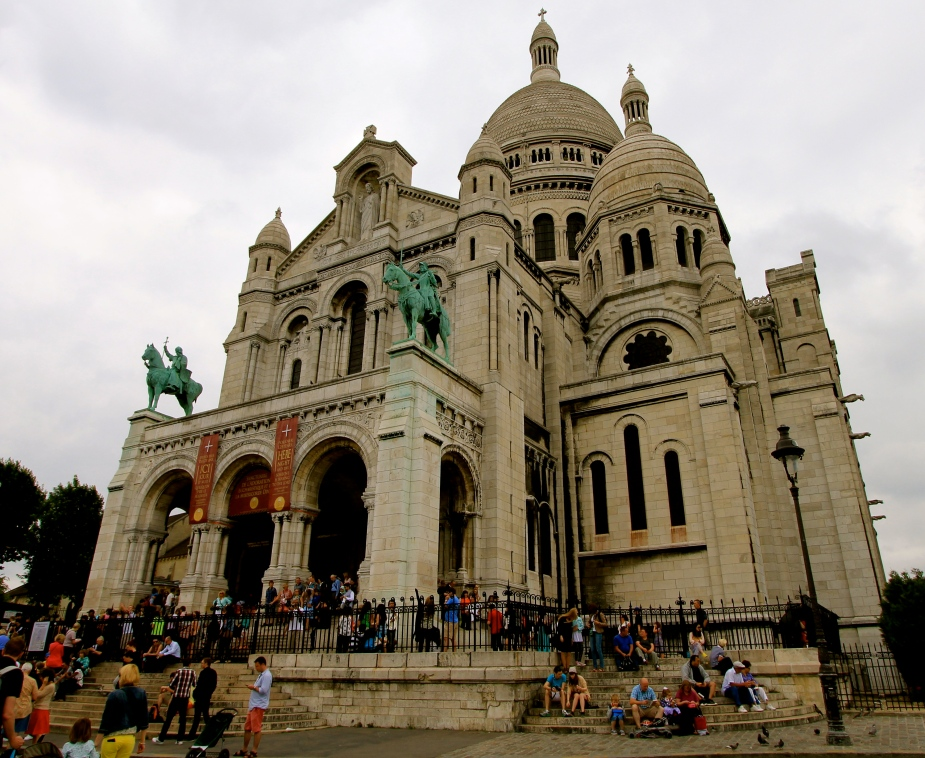 At Montmartre and the Basilica of the Sacré Cœur (Roman Catholic Church built between 1875 - 1914.