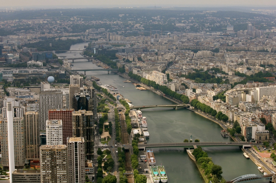 View from the Eiffel Tower of the River Seine