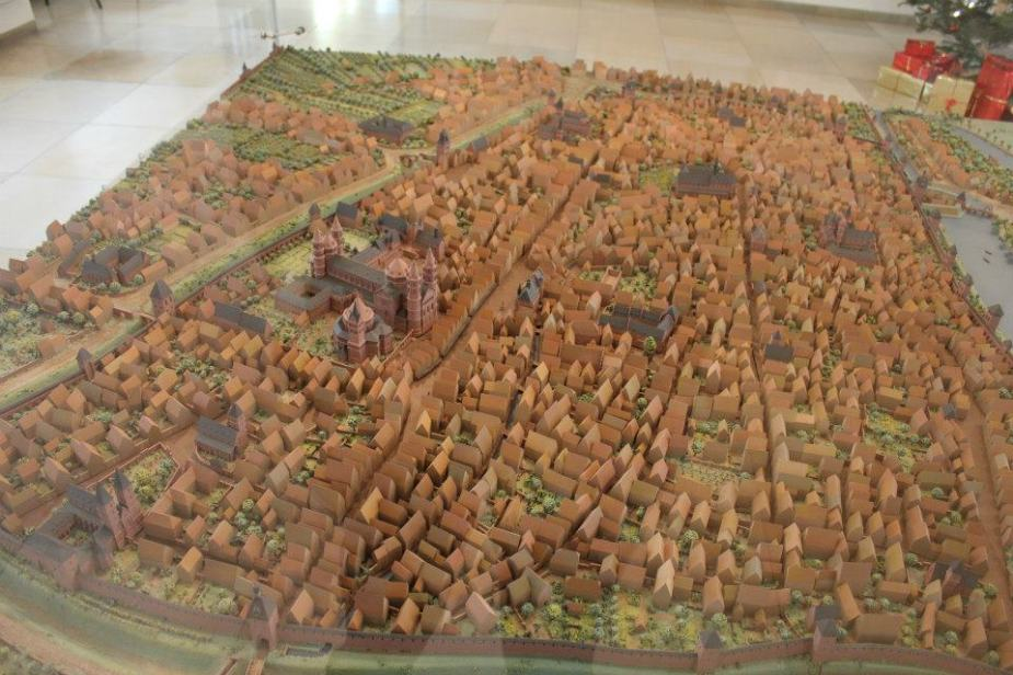 Replica of what Worms looked like in the Middle Ages