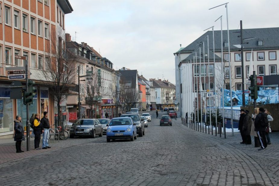 One of the streets inside the center oldstadt (old section) of the city.