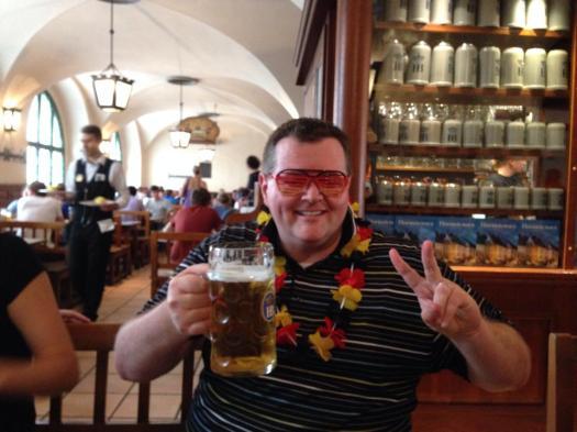 Mmmm...beer...at Hofbräuhaus