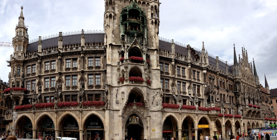 Rathaus (Town Hall) in the center part of Munich.