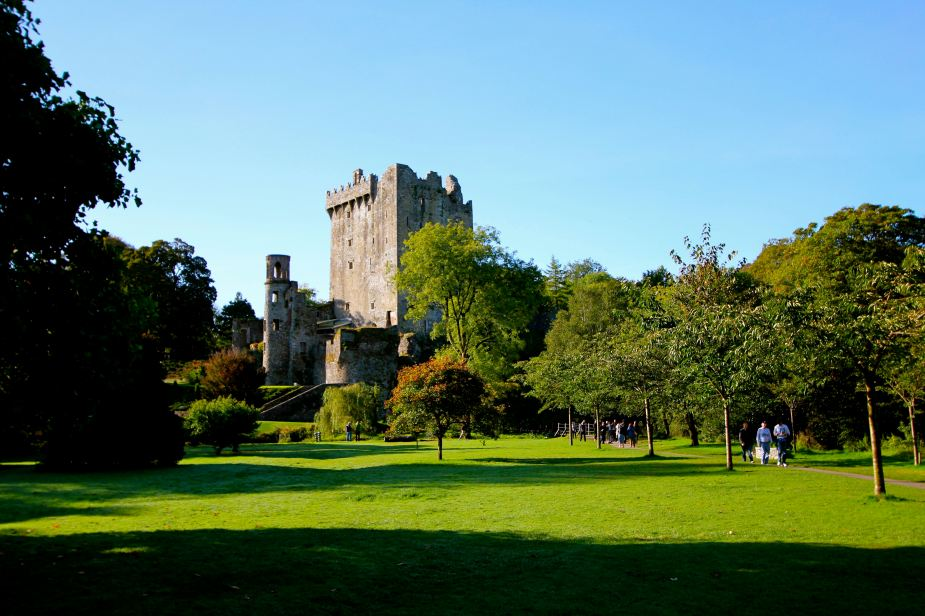 Blarney Castle: Originally built in the year 1200, later destroyed and this one was built by 1446.   The castle is in ruin today, but several sections are open with the main attraction being the view from the top.