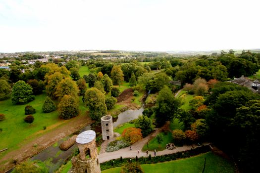 View from the top of the castle looking out....Ireland truly is a very green place!
