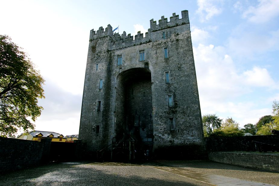 We have seen hundreds of castles throughout Europe. This is the first one that looks like it was straight from a movie. There is a draw bridge, hidden holes where people would throw boiling tar or water onto people trying to get inside....one of the more movie like castles I have seen. Outside Bunratty Castle. Built 1425. This is the 4th castle structure built at this location. The first was a Viking structure built in the year 900. 900! CRAZY!!