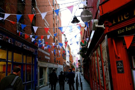 On Day 5 - we spent our time touring the city of Dublin before our evening flight back to Germany. The city streets of Dublin are very festive and busy.