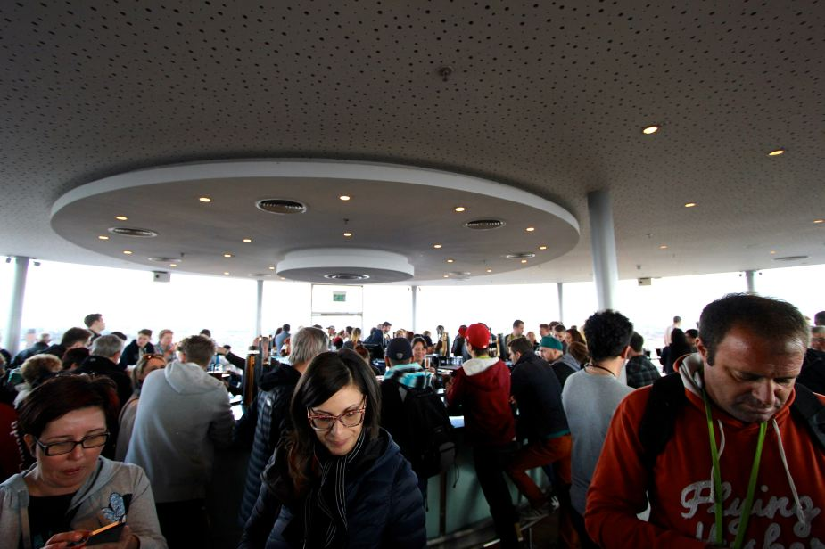 The Guinness Sky Bar is a busy place.....