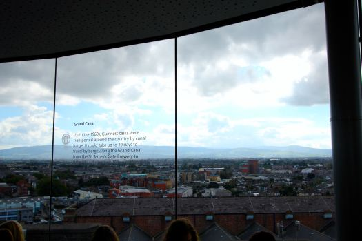 At the top of the factory is the Guinness Sky Bar, where you can try a complementary pint of Guinness and enjoy the view of Dublin.