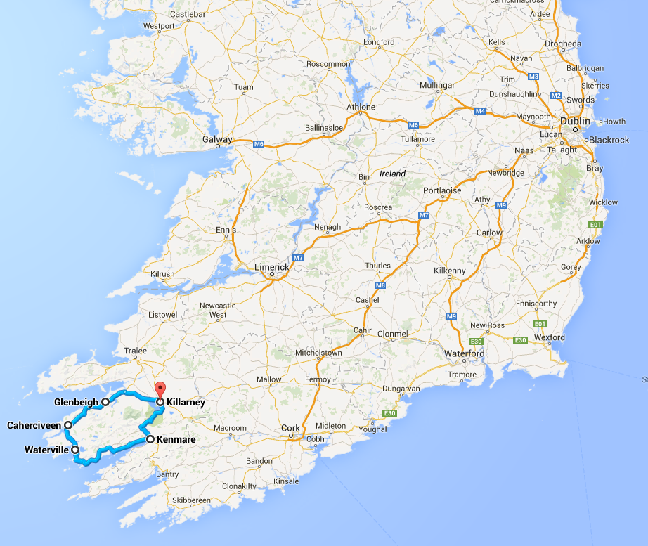 We left at 10am and arrived back to our hotel at 6pm. The round trip was about 120 miles.