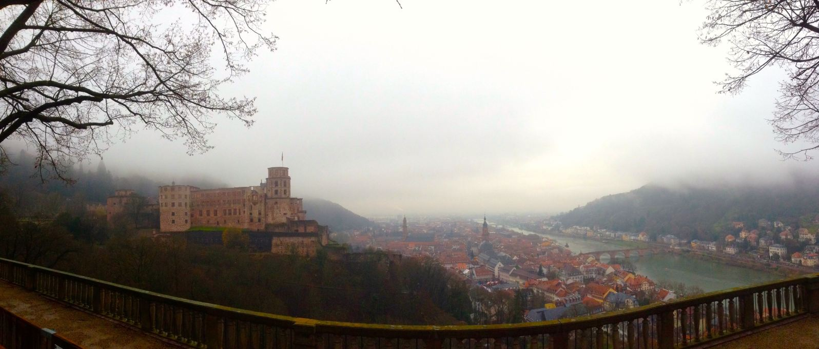 Panaroma Picture of the Castle and town below