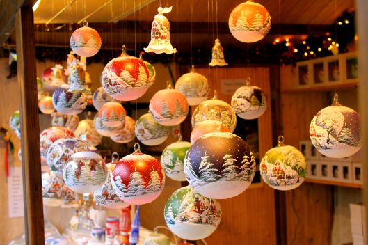 Beautiful, glass ornaments