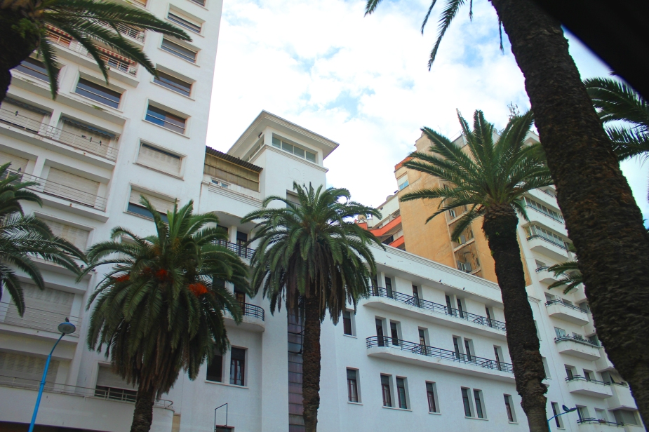 Casablanca near the cruise port is beautiful.  Tall whitewashed buildings with palm trees.