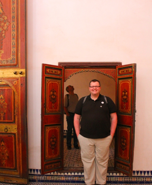 "I am 6'4"" tall and standing in the doorway into one of the prayer rooms, but notice the size of the door on my side, which is closed in the evenings."