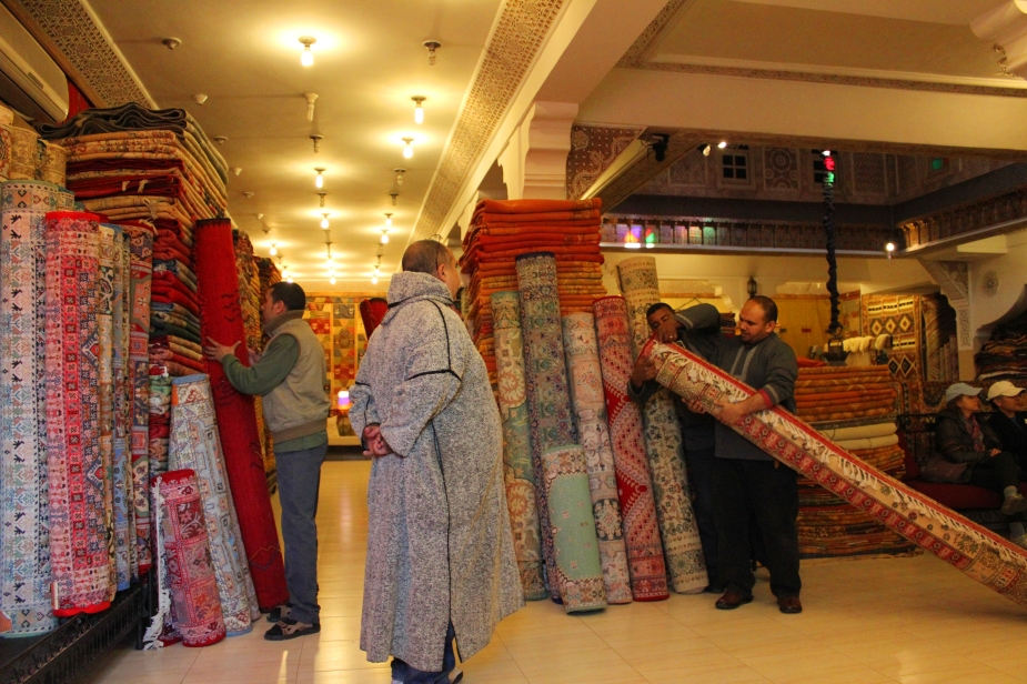 We had to attend the carpet demonstration as they explained how they were made and showed us all the various types they had. But, we learned from our trip in Turkey to not show any interest or we would be hounded after the demonstration by salesmen.
