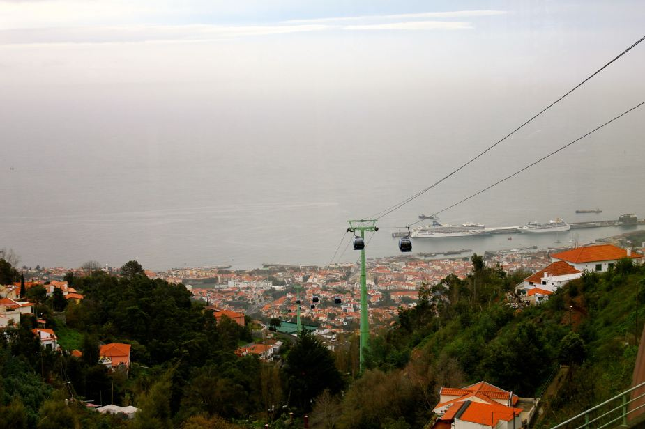 A more scenic way down the mountain is via the cable car. The advantage of this method is the views of the city and the bay
