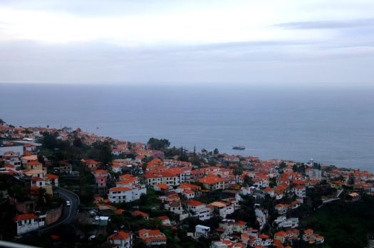 Views from the cable car over the city of Funchal.
