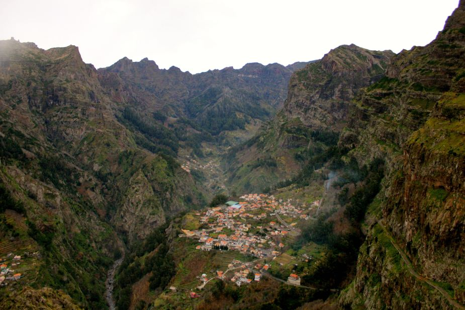 The small villages below were originally created by the settlers on Madeira to hide from pirates that would pillage the seaside towns on the islands.
