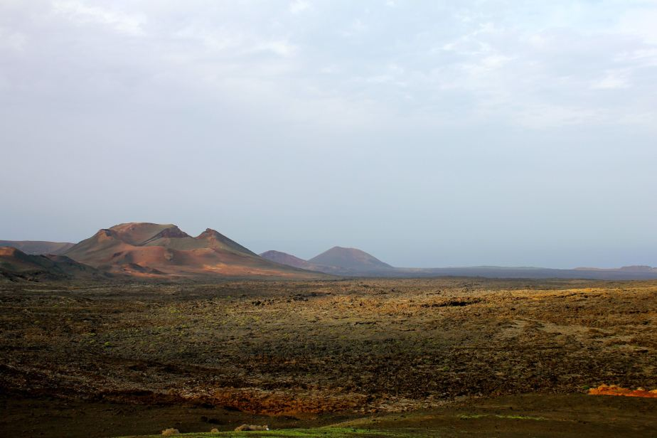 To aid tourism, a road was created through these lava fields around the now extinct volcanoes so that people can drive across to see the landscape and marvel at the volcano craters.