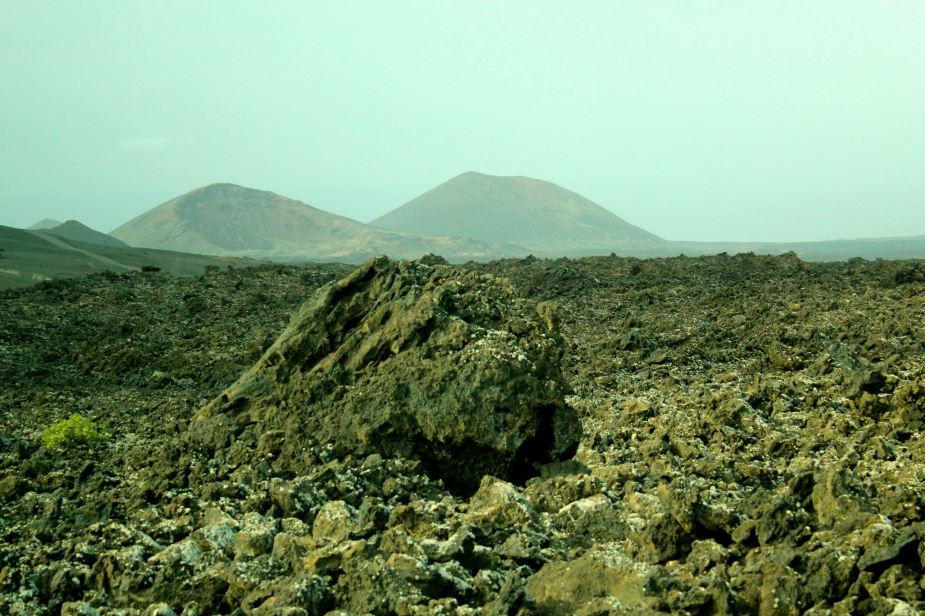 In this part of the island, the eruptions occurred in 1730 to 1736 covering about 1/3 of the island. In this 6 year span, hundreds of volcanoes began to erupt with lava flowing out. Here, the lava eventually cooled leaving behind these rocks and a useless landscape.