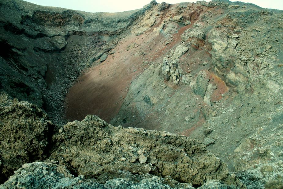 ....here looking directly down into a crater