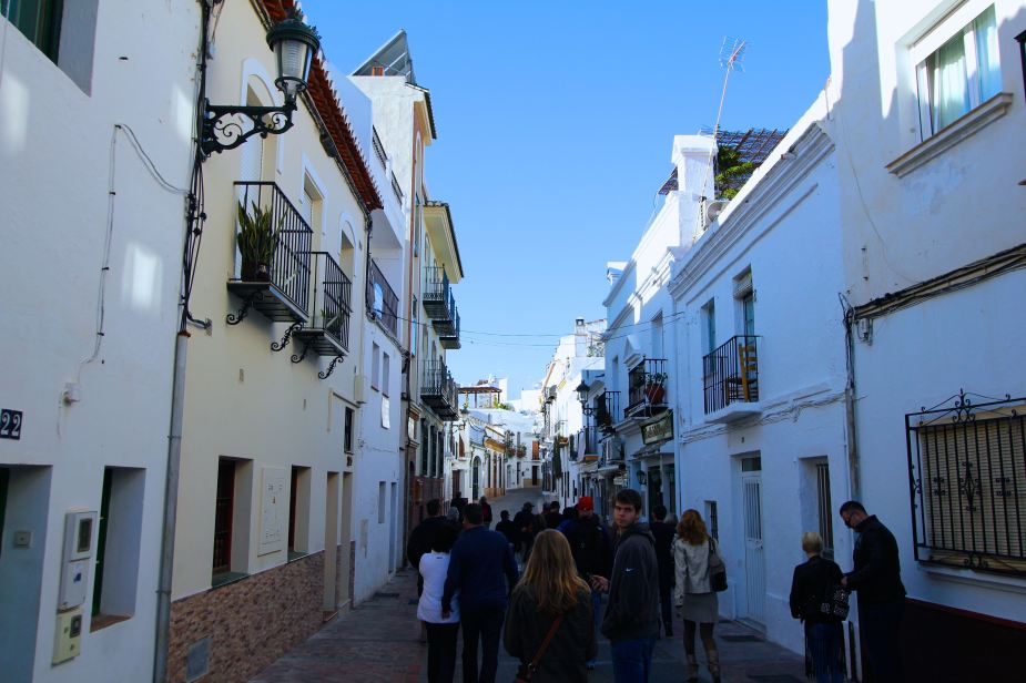 Walking through the streets of the city of Nerja, which is 30 miles to the west of Malaga
