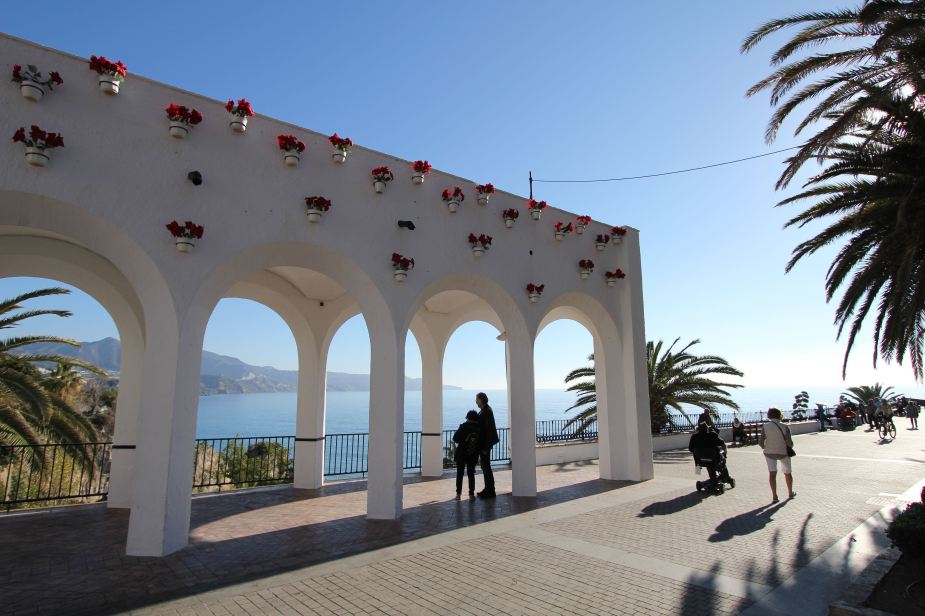 The Mediterranean Sea front is called the Balcony of Europe because of its spectacular views of the sea
