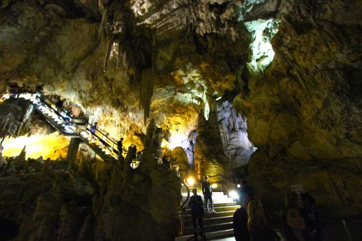 The Nerja Caves were accidentally discovered in 1959!! Skeletal remains have been found that date back to 25,000 BC and there have been recent findings of cave paintings indicating they were lived in during prehistoric times
