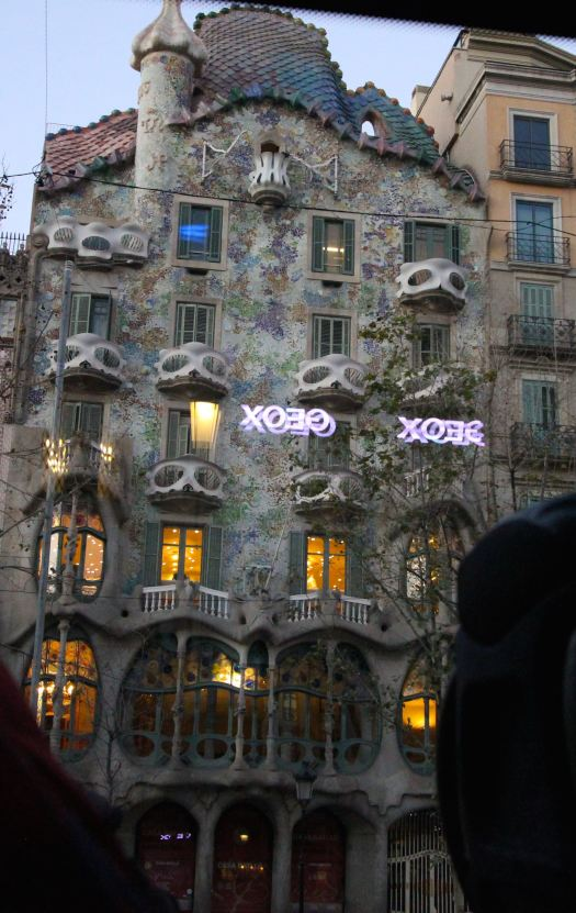 A famous architect from this region of Spain, Antoni Gaudi, designed several buildings in Barcelona. And this building pays honor to the theater.