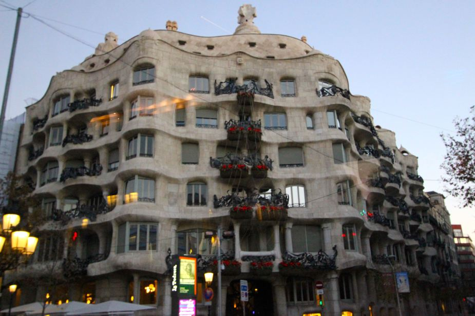 Another Gaudi building with its curvy lines
