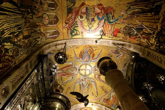The ceiling above where the Black Madonna sits is laced with beautiful mosaics.