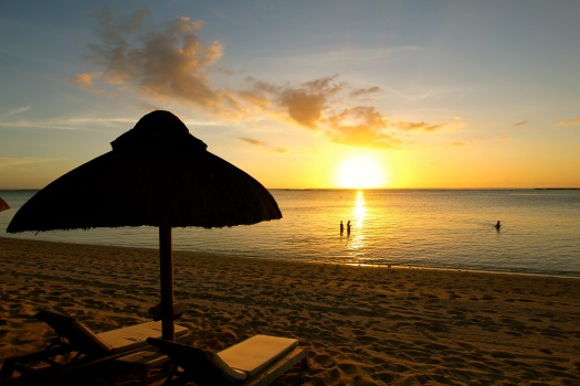 Our first sunset in Mauritius