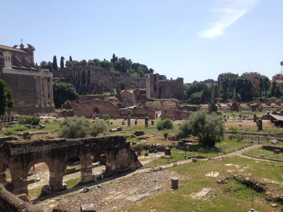 The Roman Forum area which would have been the