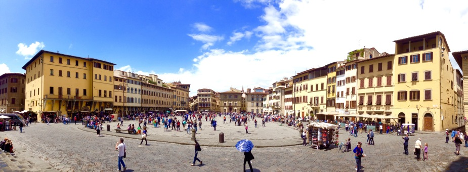 The view from standing at the door of Santa Croce