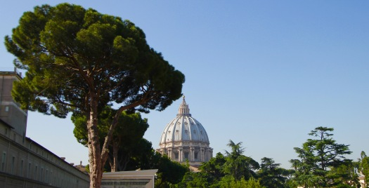Our visit to Vatican City, and the view of St. Peter's Basilica. We toured the Vatican Museum with all of its artwork: sculptures, hanging art, painted walls, tapestries, etc. And, after an hour through the museum, we then toured the Sistine Chapel, and the famous painted ceiling. The Sistine Chapel is smaller and the famous