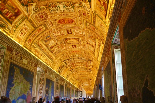 The next gallery is the Gallery of Maps, with painted maps showing different parts of the Holy Roman Empire, painted in the 1600s. While it is called the