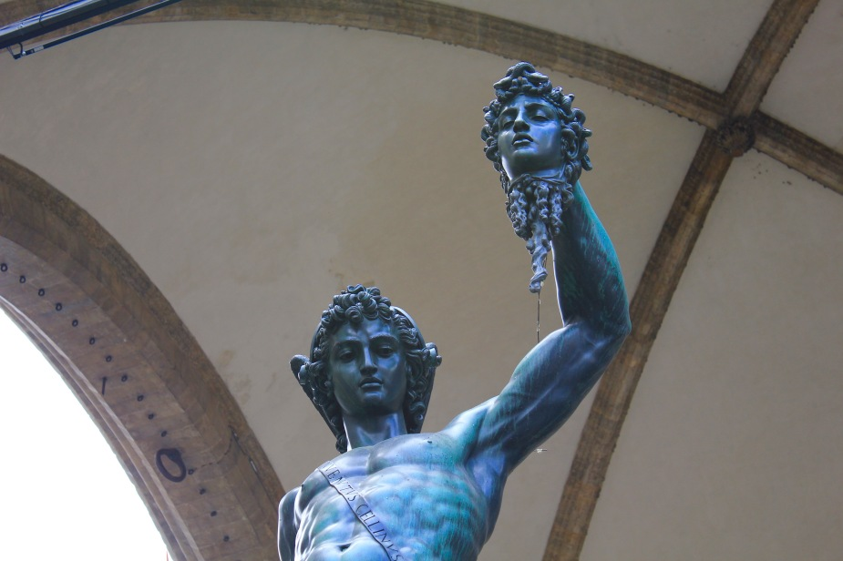 Bronze statue from 1560 showing the Greek hero Perseus with the head of Medusa.