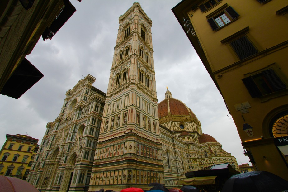 One of the most dominating structures in Florence is the Cathedral of Saint Mary (mother of Jesus). Constructed between 1296 - 1436 with the facade being completed in the 16th Century.