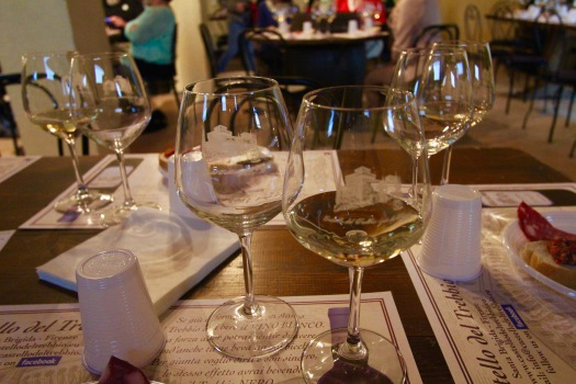 After the tour, we were taken to the restaurant for the wine tasting....Cheers! Prost!!