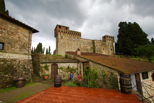 After leaving Florence, we drove out into the countryside of Tuscany (a State in Italy). Our destination was to the Castello del Trebbio for a tour of the castle and a wine tasting.