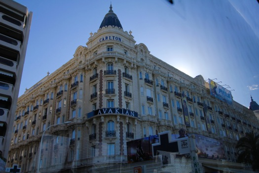 The Carlton Hotel in Cannes is one of the most popular for the Hollywood A List. And, since the Festival was happening this place was full of stars I'm sure....supposedly a favorite of George Clooney (but then again, a lot of places say that in this region?)