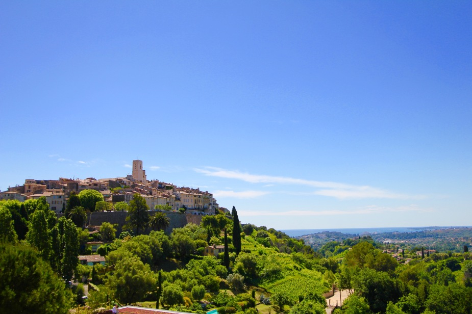 The village of St. Paul de Vence was originally settled by the Romans in the 3rd Century BC.  Over time, the village grew...the walls to protect the village was constructed in the 14th Century.