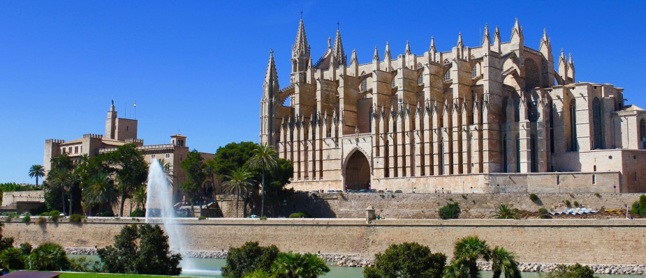 Palma Cathedral. Built between 1229 to 1346 and larger than Notre Dame in Paris.