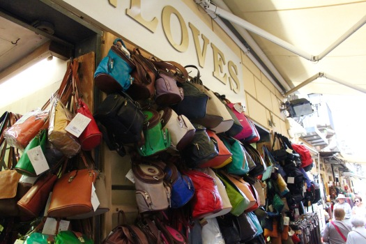 Another common item in Italy to buy is anything made from leather, as leather production of finished goods (bags, jackets, gloves, etc) is big here.