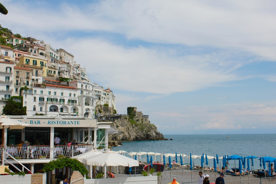 Our drive ended in the village of Amalfi, a seaside resort community. Here we did a little touring around before boarding our boat for our next trip along the coast.