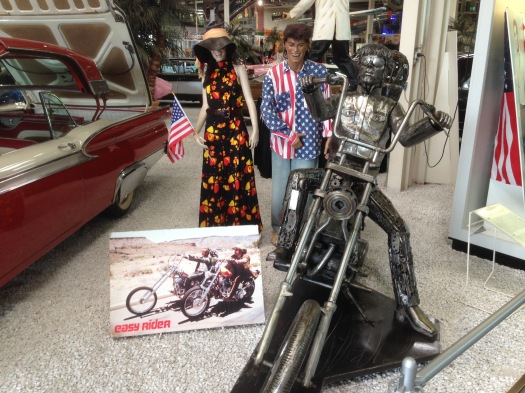 "There was also an ""Americana"" section in the museum, as shown with this replica of the motorcycle from the movie ""Easy Rider"""