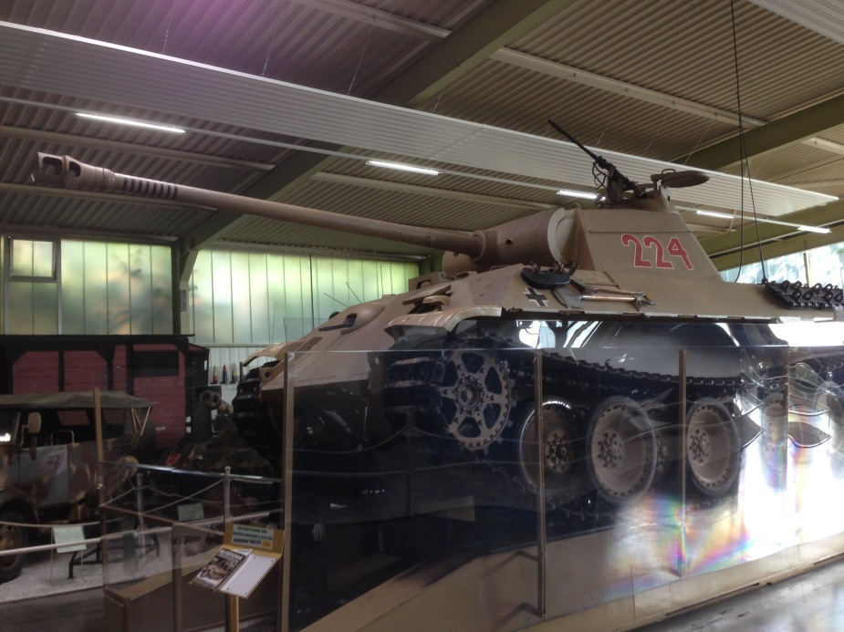 A Panther (or Panzer) tank from WWII. This tank was considered to be one of the best tanks of World War II due to its excellent firepower and protection.
