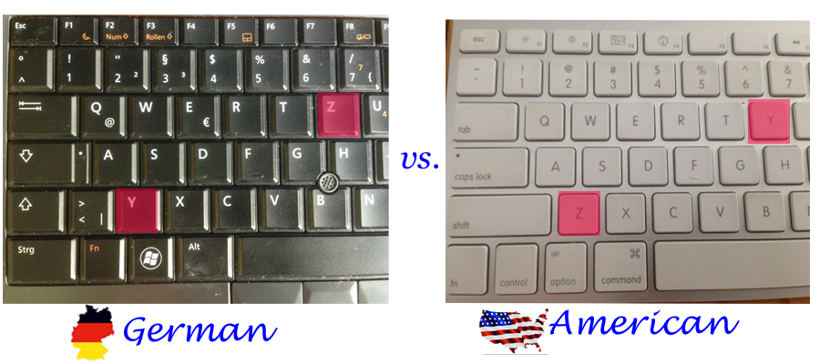 Comparison of the left side of the keyboard